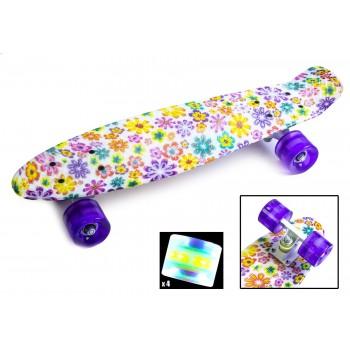 Пенни Борд с рисунком Zippy skateboards Ultra Led Цветы