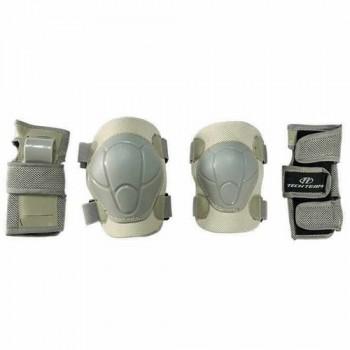 Набор защиты Tech Team Safety line 100, цвет белый (размеры S, M, L)