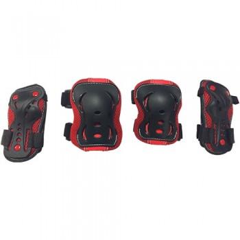 Набор защиты Tech Team Safety line 700, цвет красный (размеры S, M, L)